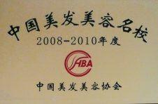 荣获2008—2010年度中国美发美容名校称号