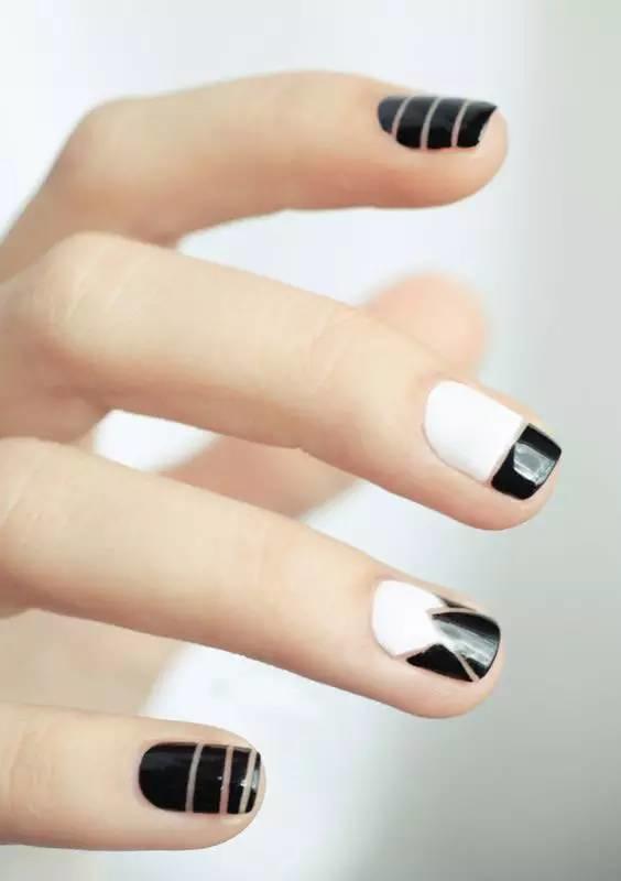 【美甲】最经典黑白美甲款式,永远不过时!