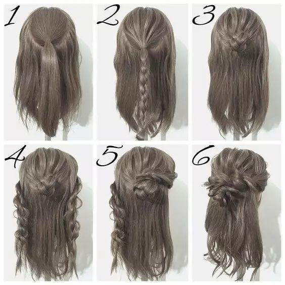 什么发型的菇凉最好看?当然是扎着半扎发的小仙女啦~