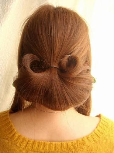 有一种盘发,叫做看了背影就想看你的正脸!