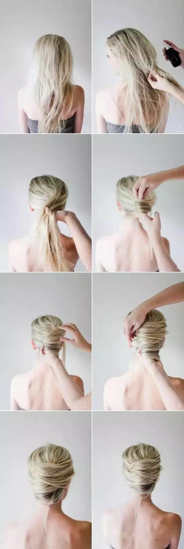 冬季女人别披散着头发显得太臃肿,这样扎起来利落更时尚!