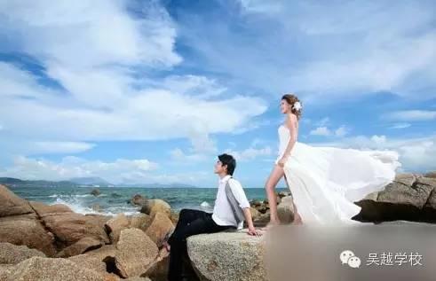 【吴越学校】海边婚纱照姿势盘点 留住自己的幸福点滴