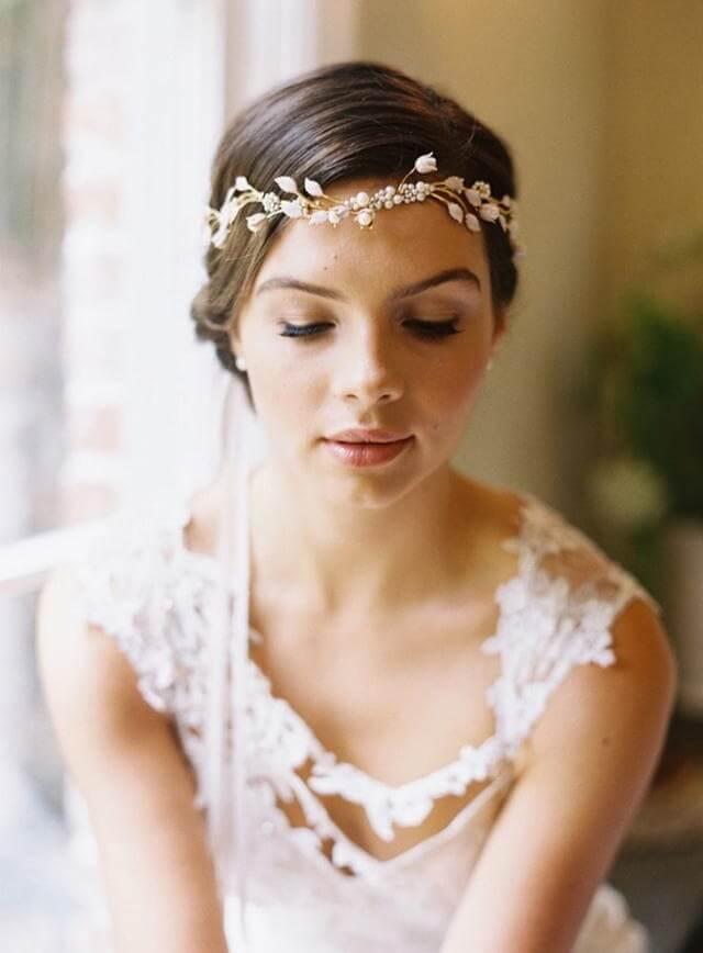 【吴越形象设计学校】古典欧式的新娘头饰 彰显出浓浓的贵族气息
