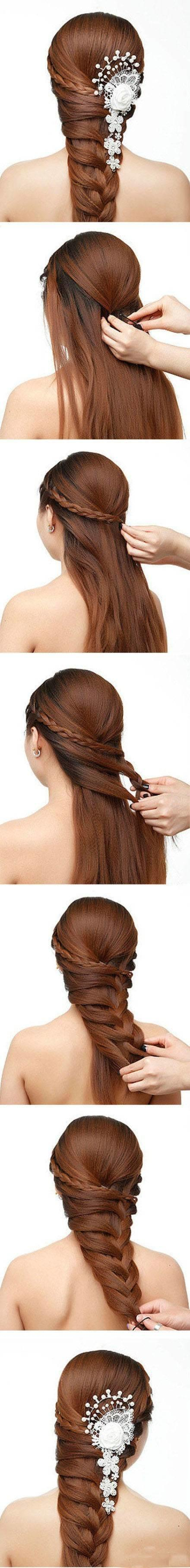 你的长发,编起来,会更美!