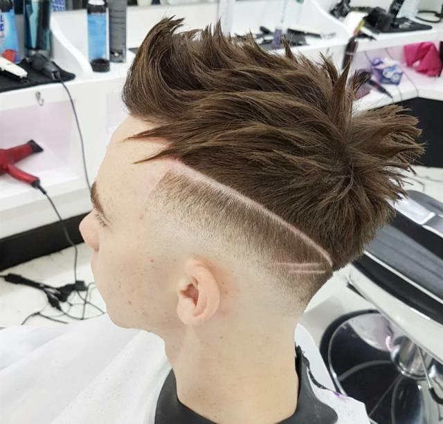 个性鲜明的男士渐变发型